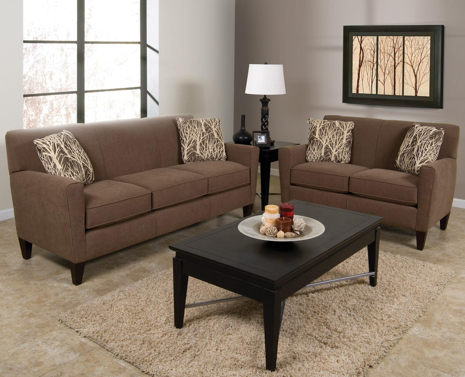 England Collegedale Contemporary 3 Piece Sectional Sofa with RAF