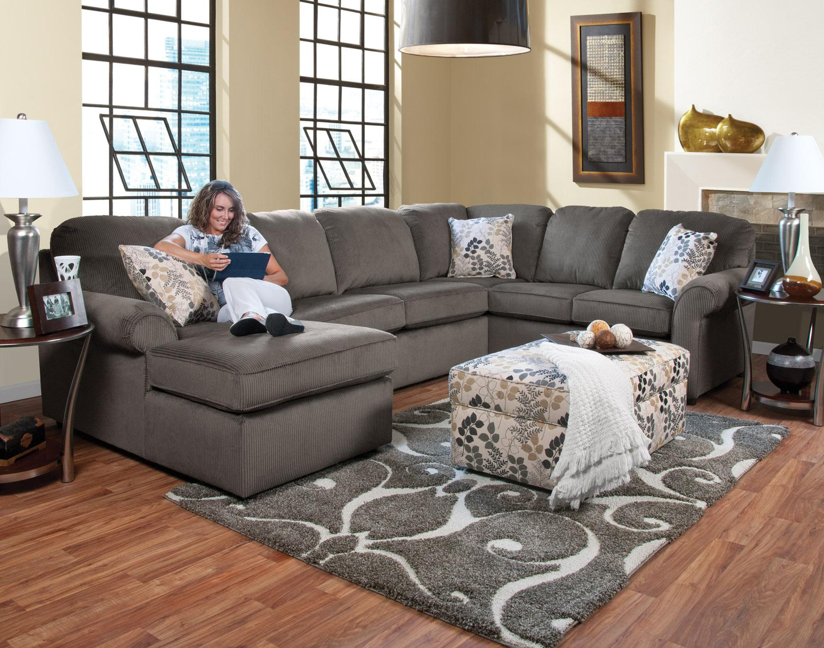 England Malibu 5 6 Seat right side Chaise Sectional Sofa