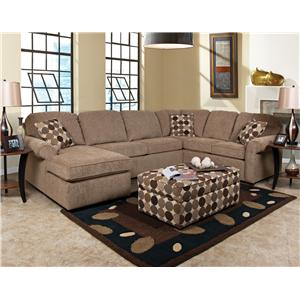 England Malibu 6-7 Seat (right side) Chaise Sectional Sofa