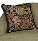 Beautiful contrasting pillows with intricate patterns and design.