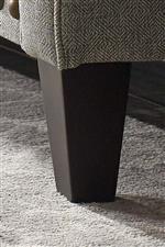 Tapered Dark Brown Wood Leg