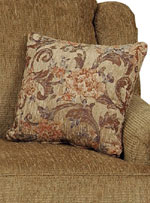 Beautiful contrasting throw pillows.
