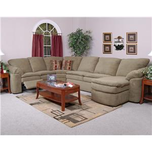 England Seneca Falls Family Room Sectional Sofa