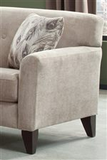 Smooth Upholstery Lines and Wood Feet Create a Contemporary Furniture Style