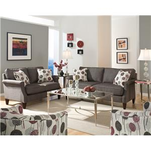 England Sigmond  Contemporary Arm Chair and Ottoman Set for Living Rooms
