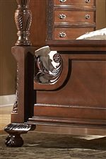 Detailed Footboard with Crown Moulding