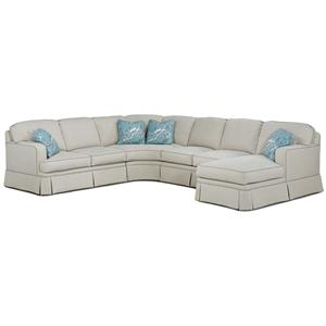 Fairfield 2TKS Contemporary Sectional Sofa