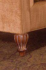 Decoratively Turned Wood Leg