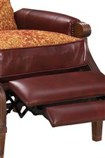 Box-Faced Seat Cushion with Padded Footrest