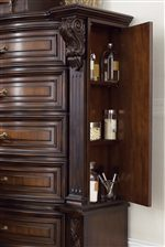 Side Opening Door in Chest with Shelving