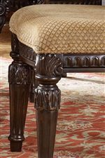 Tapered Legs with Fluted Detailing as well as an Upholstered Seat