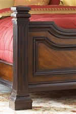 Solid Bed Posts with Fluted Detailing as well as Sloped Footboard