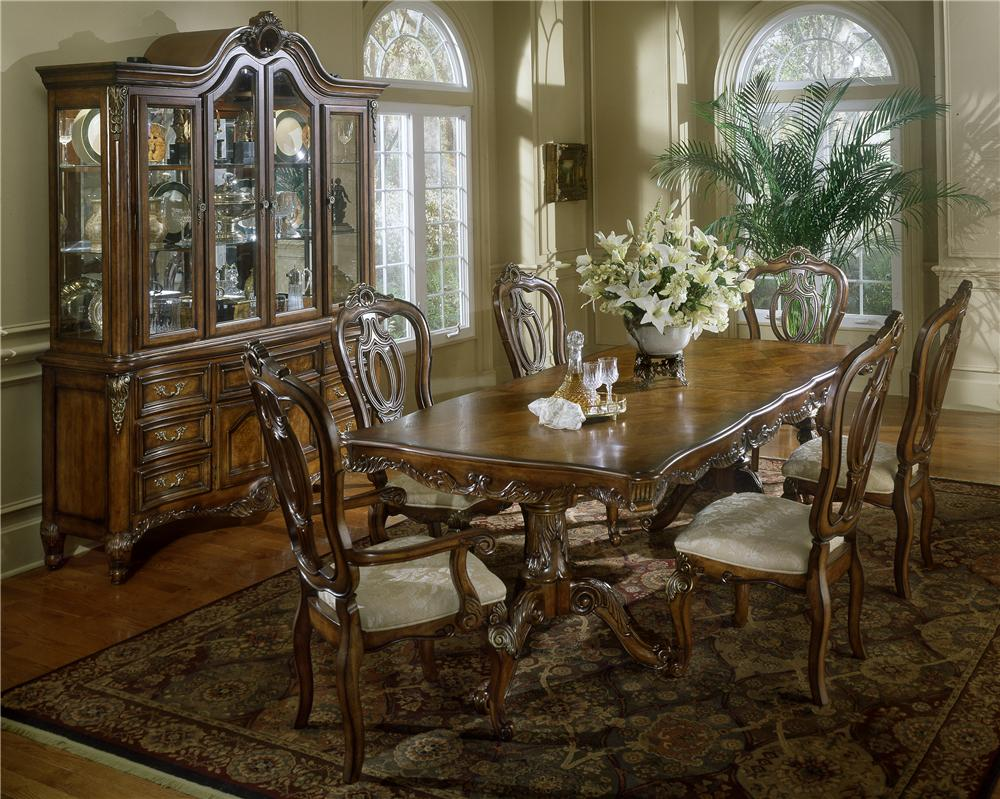 Fairmont Designs Repertoire Pedestal Table U0026 Chair Set    BigFurnitureWebsite   Dining 7 (or More) Piece Set