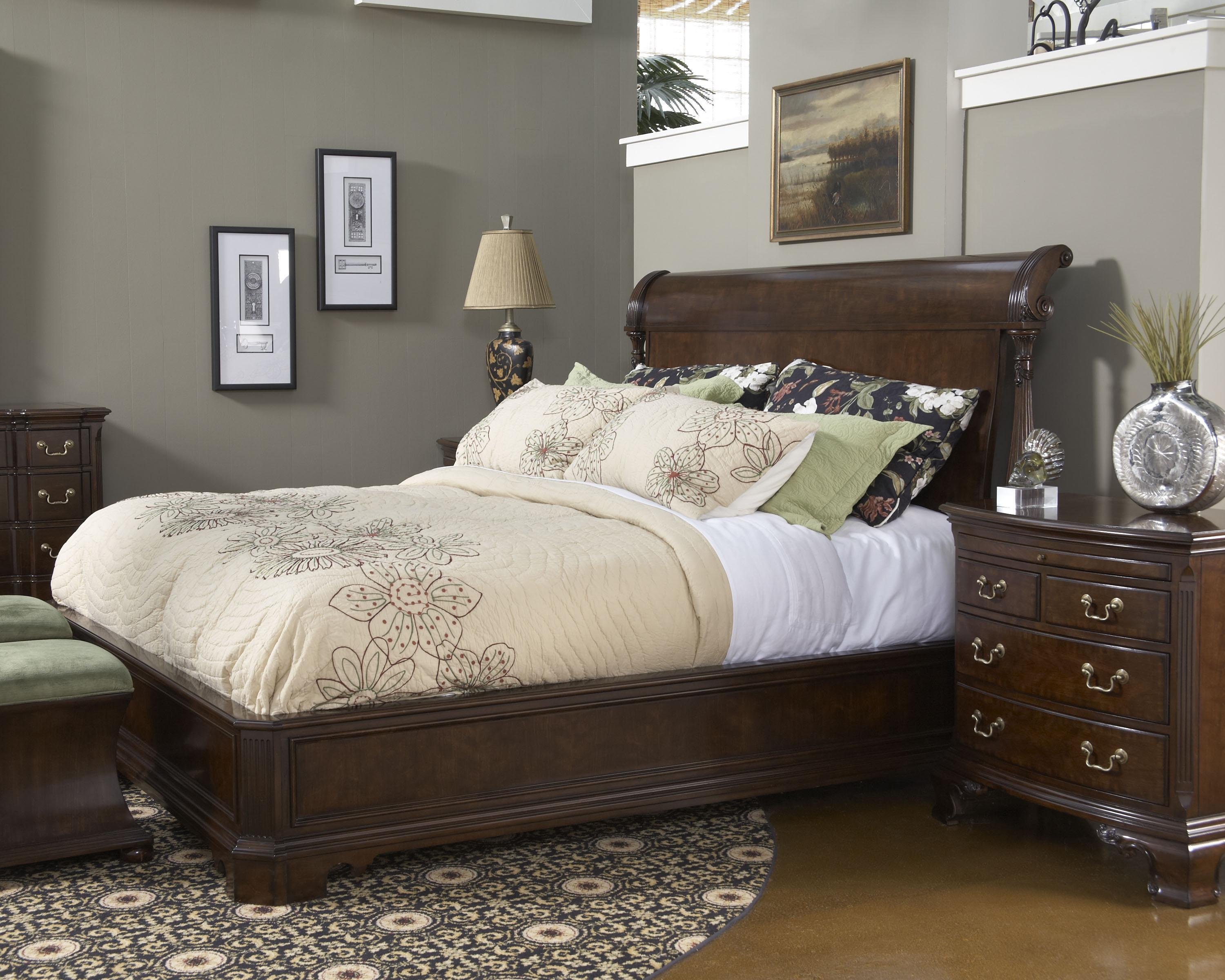 fine furniture design american cherry bedroom bench with rolled