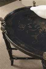 Black and Gold Chinoiserie Painted Occasional Tables