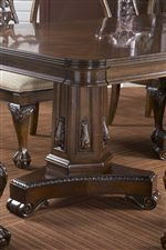 Table Pedestal with Applied Carvings