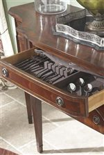 Sideboard Center Drawer with Felt-Lined Silverware Tray