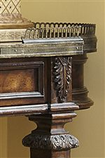 Select Pieces Feature Gold Gallery and Acanthus Leaf Details