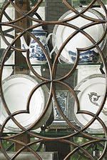 Select Pieces Have Glass Doors with Fine Tracery