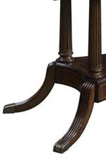 Sloped, Reeded Leg with Brass Capped Foot
