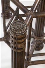 Detail on Makira Dining Table Base