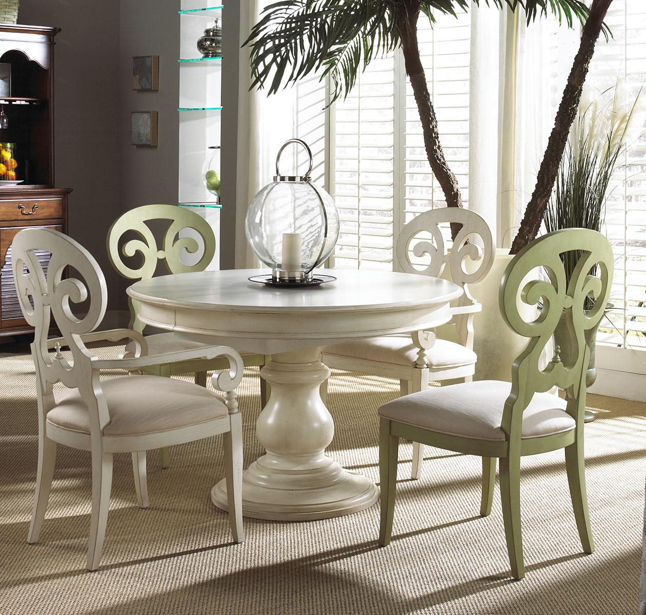Fine Furniture Design Summer Home Elegant Round Dining Table   Stuckey  Furniture   Dining Room Table