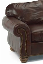 Supple Leather Adds a Luxurious Feel to this Sofa.