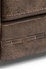 Leather Strap Detail with Nailhead Trim