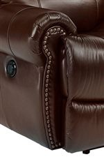 Traditional Rolled Arms with Nail Head Trim Provide Classic Style with a Luxurious Emphasis