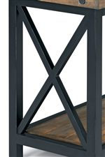 Metal Frames with X Design on Table Sides