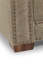 Tapered block feet available in several finishes