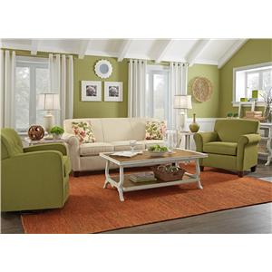 Flexsteel Dana Stationary Living Room Group