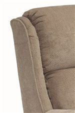 Plush High Semi-Attached Back Cushion