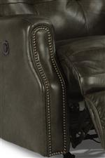 Shown in Leather with Nailhead Trim. Also Available in Fabric or Performance Fabric and without Nailhead Trim.