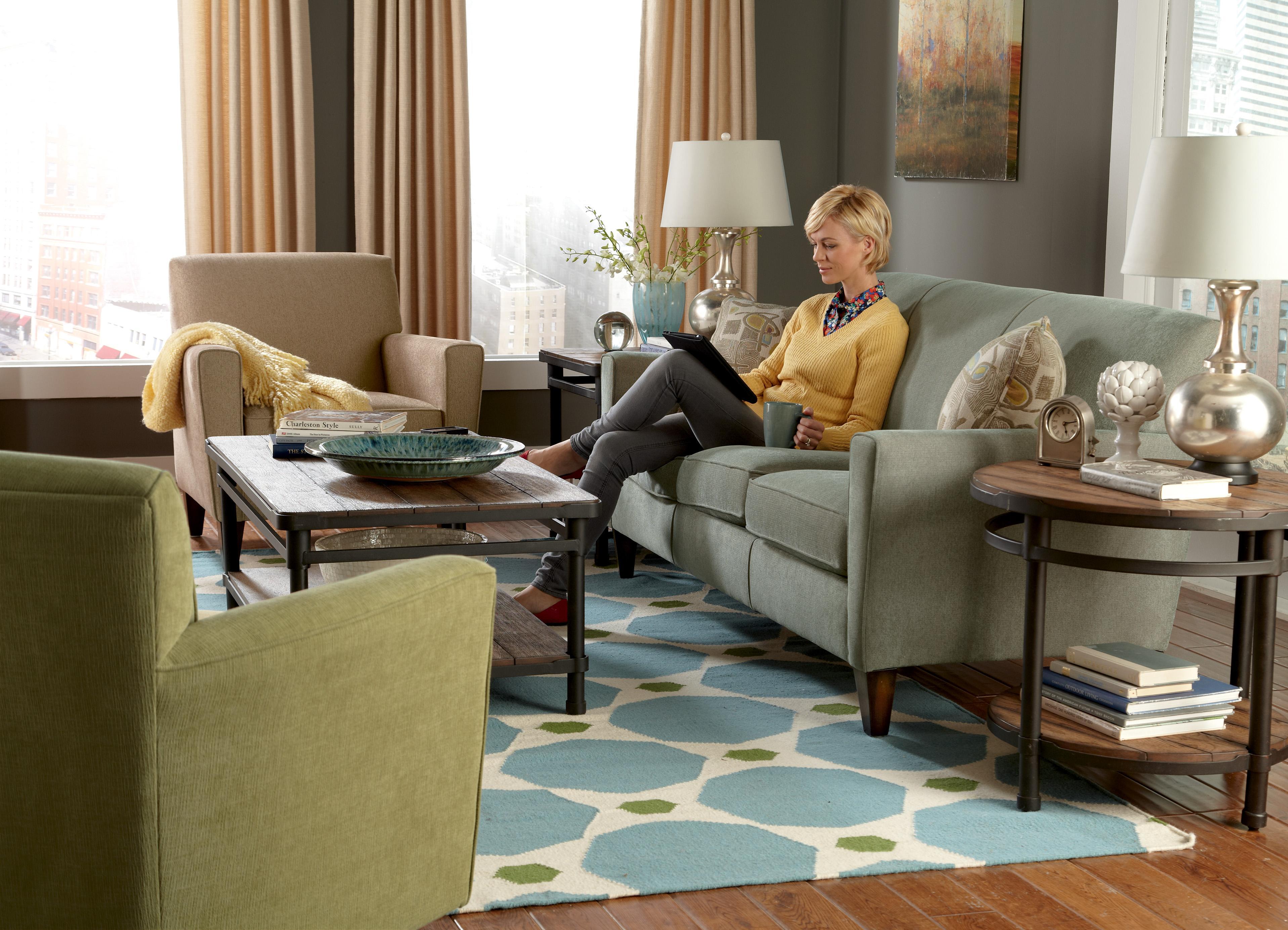 Flexsteel Digby Contemporary Conversation Sofa Wayside Furniture Sofas
