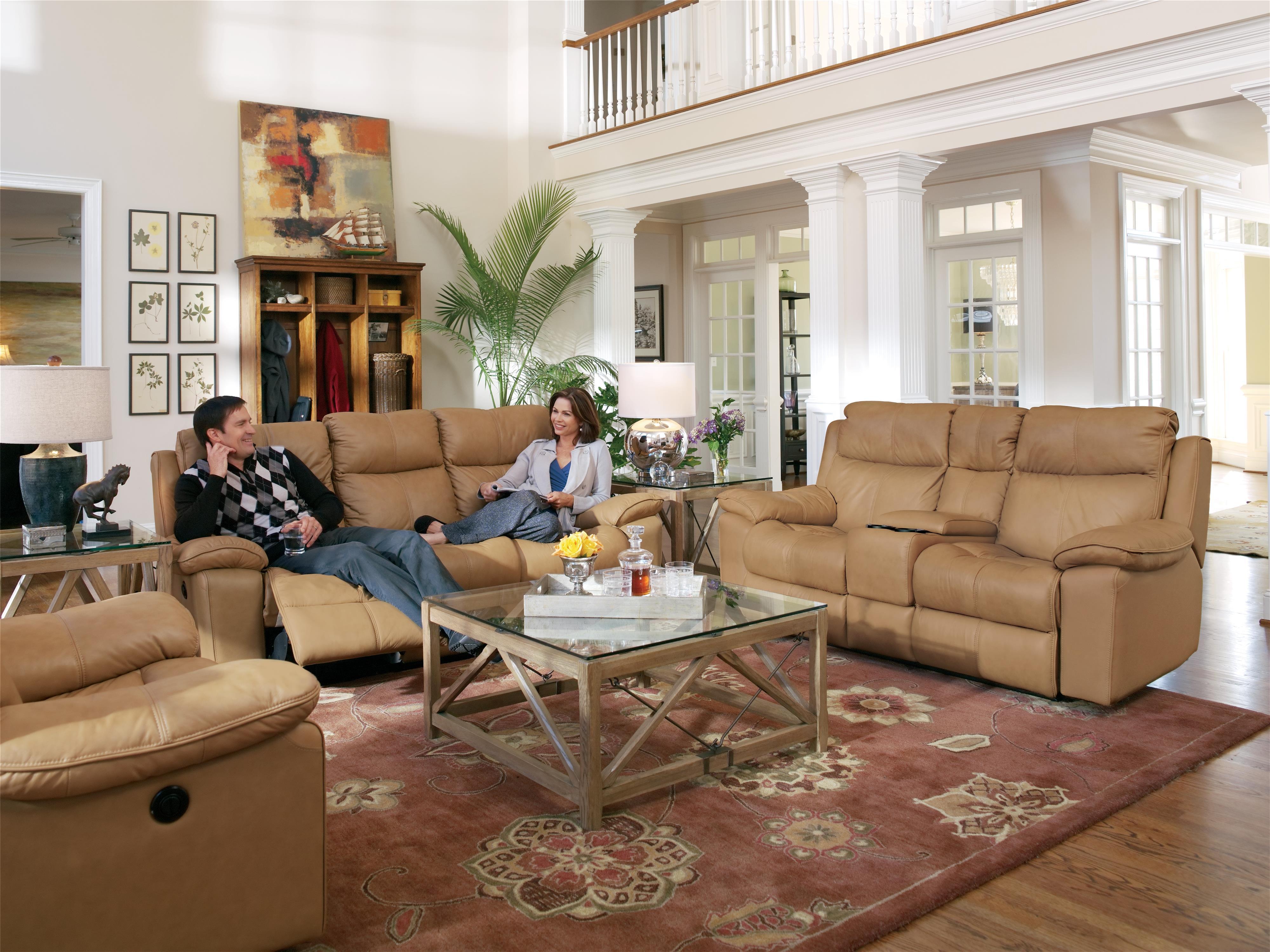Flexsteel Latitudes Julio Power Reclining Sofa with Bustle Backs
