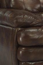 Plush Pillow Arm and Pillow-Top Seat