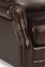 Nailhead Trim Lining Rolled Arms