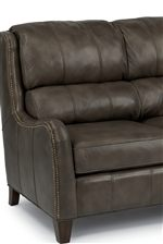 Plush, Bustled Back Cushions and Classic Nailhead Trim Define This Handsome Group