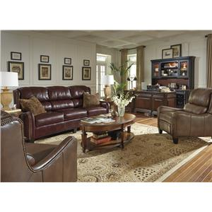 Flexsteel Latitudes-Lukas Transitional Loveseat with Bustle Back and Nailhead Trim
