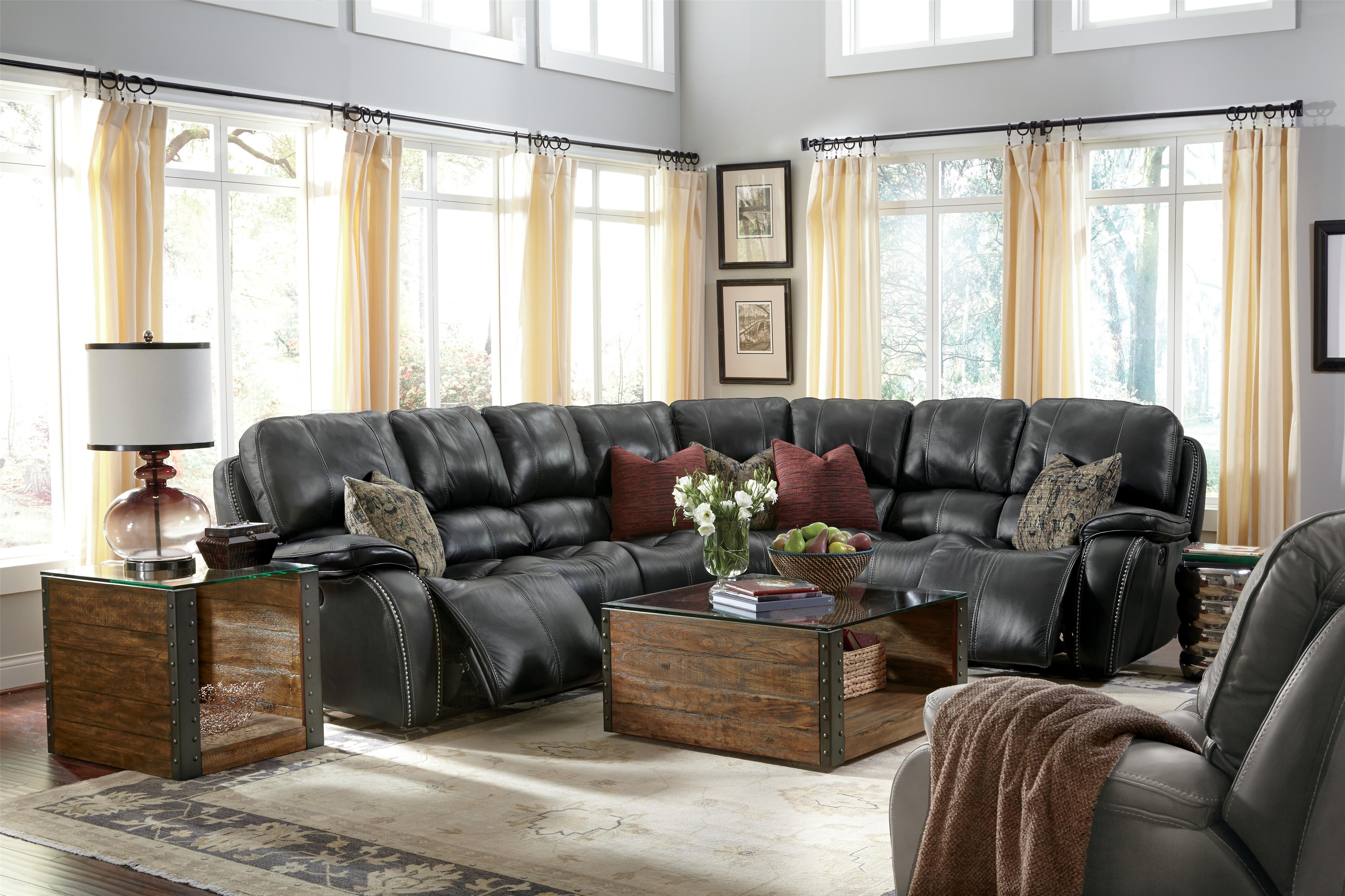 Flexsteel Latitudes MacKay Four Piece Power Reclining Sectional