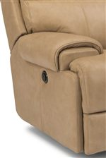 Clean Style and Impeccable Comfort are Embodied by Pillow-Padded Track Arms
