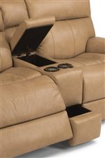 Loveseat Includes Built-In Cupholder and Storage Console