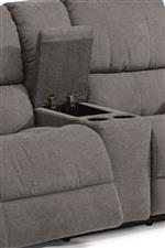 Storage Console and Cupholders on Loveseat