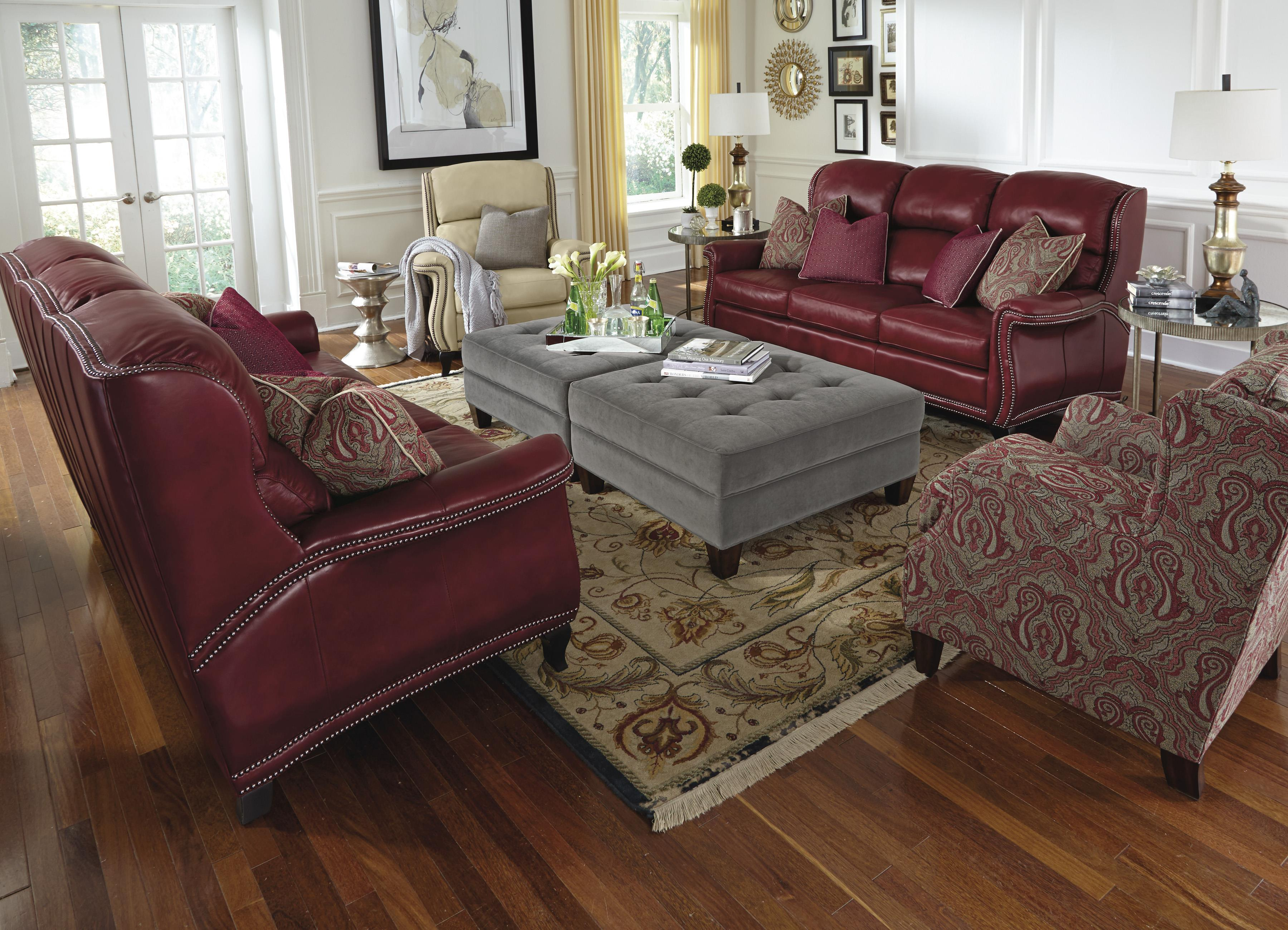 Flexsteel Latitudes-Sting Ray Stationary Living Room Group - Item Number: 1256 Living Room Group 1