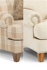 Available With or Without Tack-Style Nailhead Studs