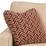 Throw Pillow Included with Sofa and Loveseat