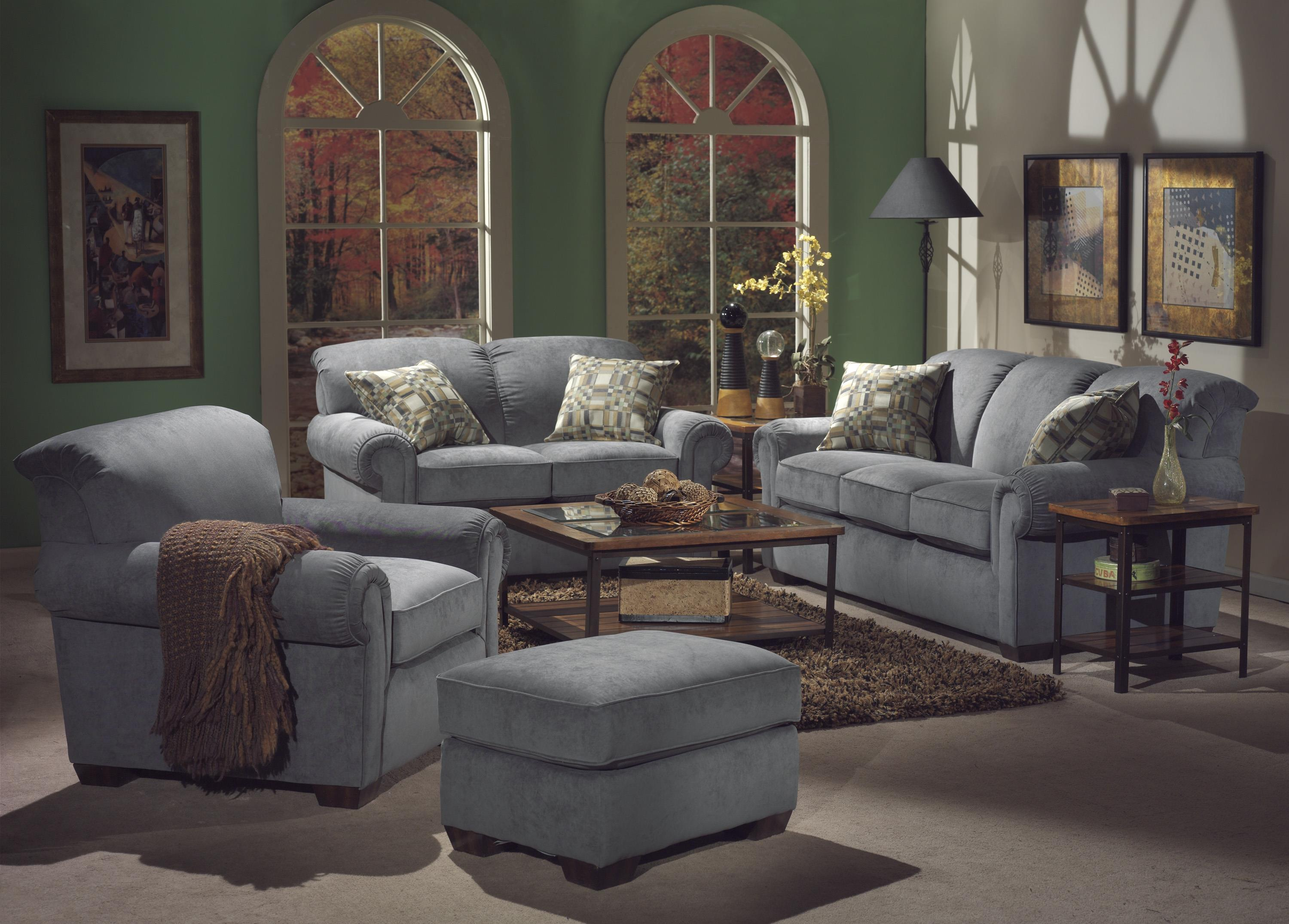 Flexsteel Main Street Stationary Living Room Group - Item Number: 5988 Living Room Group 2
