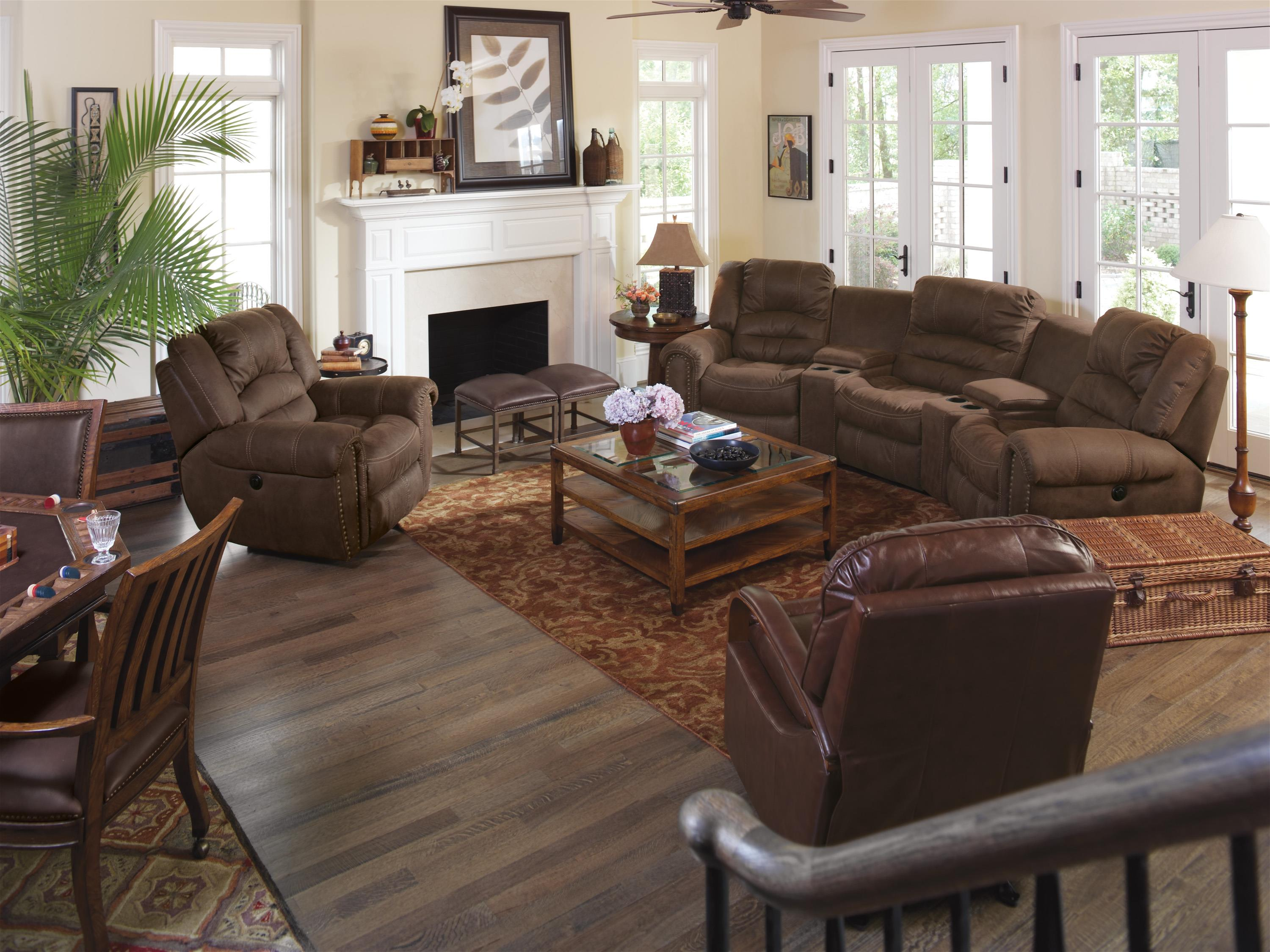 Flexsteel Latitudes New Town Curved Reclining Sectional Sofa