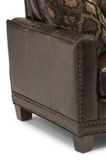 Track Arms Decorated with Nailhead Studs and Topstitch Detailing for a Timeless Appeal